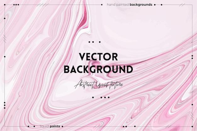 Płynna tekstura sztuki. tło z abstrakcyjnym efektem mieszania farby. różowe, szare i białe przepełnione kolory.