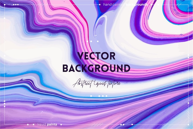 Płynna tekstura sztuki. tło z abstrakcyjnym efektem wirowania farby. płynna grafika akrylowa z przepływami i plamami. mieszane farby do plakatów lub tapet. niebieskie, różowe i białe przepełnione kolory.