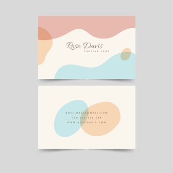 Płynna wizytówka w pastelowych kolorach