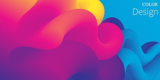 Płynne kolory. płynny kształt. atrament splash.