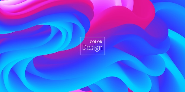 Płynne kolory. płynny kształt. rozprysk atramentu. .