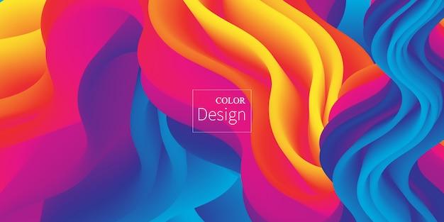 Płynne kolory. płynny kształt. rozprysk atramentu.