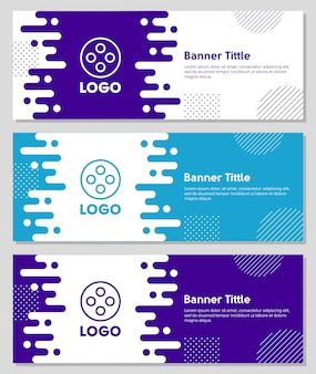 Płynne kształty banner biznesu