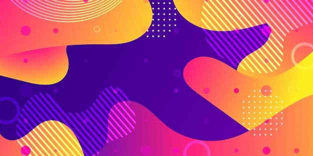 Płynne tło abstrakcyjne kształty