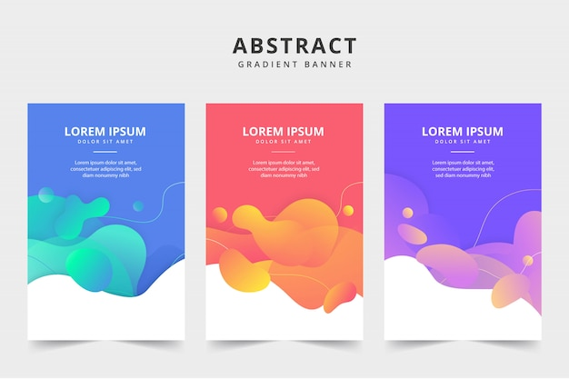Płynny kolor biznesowy banner 3 pack