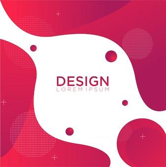 Płynny kolor tła projektowania gradientu płynnych kształtów kompozycji