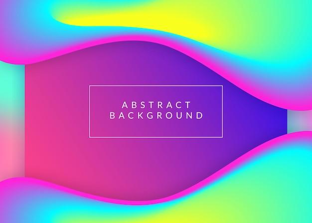 Płynny płyn. żywa siatka gradientu. kreatywny interfejs, układ aplikacji. holograficzne tło 3d z nowoczesną modną mieszanką. płynny fluid o dynamicznych elementach i kształtach. wstęp.