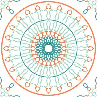 Płytka bez szwu wzór z kolorowymi motywami w tle