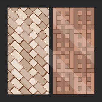 Płytki chodnikowe tekstury prostokątne
