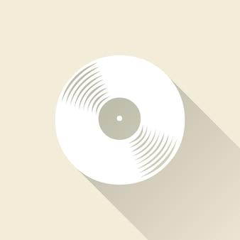 Płyty winylowe ikona ilustracja, wzór muzyki. kreatywna i luksusowa okładka