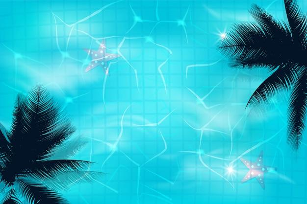 Pływackiego basenu odgórnego widoku tło. luksusowy basen. tło lato.