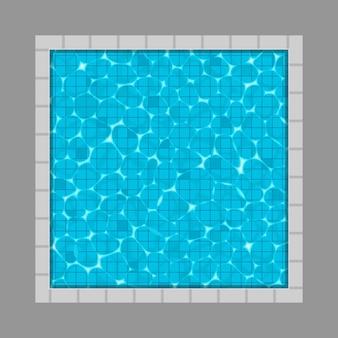 Pływackiego basenu odgórny widok z odbicia tłem.