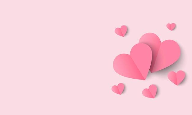 Pływające różowe serce, miłość i walentynki świętują,