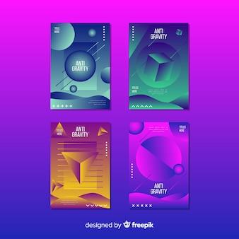 Pływający kształt broszury