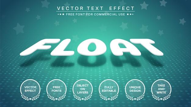 Pływający styl czcionki edytowalnego efektu tekstu