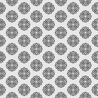 Pngtreebeautiful wzór mandali z islamskim geometrycznym kwiatem bez szwu