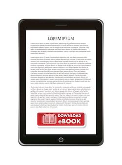 Pobierz ebook na białym tle ilustracji wektorowych