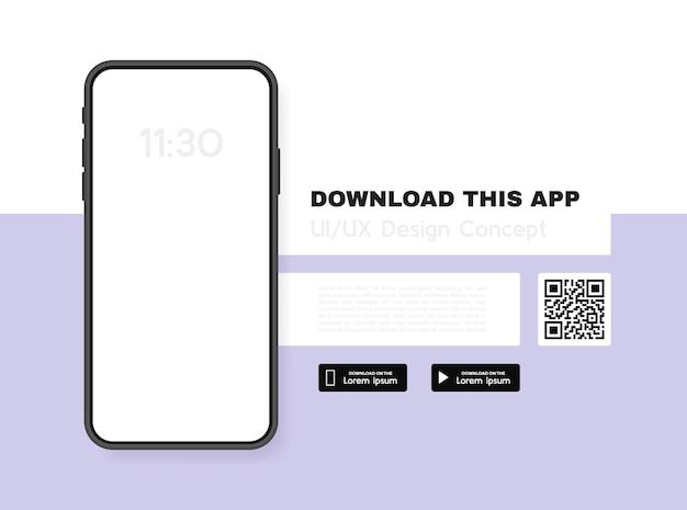 Pobierz ten baner reklamowy aplikacji. aplikacja na telefon komórkowy.