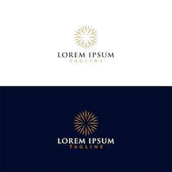 Pobierz wektor luksusowe słońce logo