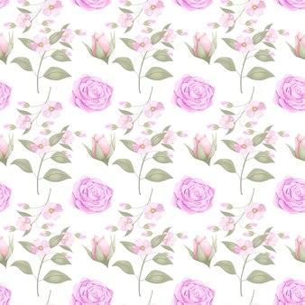 Pobierz wzór kwiatowy bez szwu dla mody
