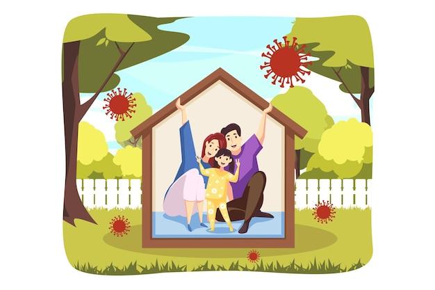 Pobyt w domu ilustracji