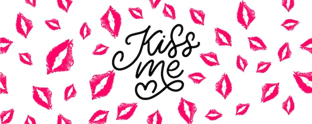 Pocałuj mnie ręcznie napis
