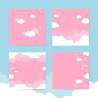 Pochmurno różowe niebo tła