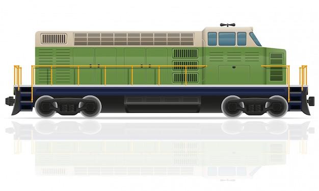 Pociąg lokomotyw kolejowych.