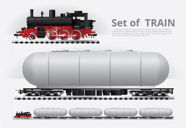 Pociąg towarowy na drodze kolejowej