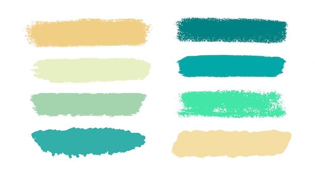 Pociągnięcia pędzlem grunge pastelowy kolor