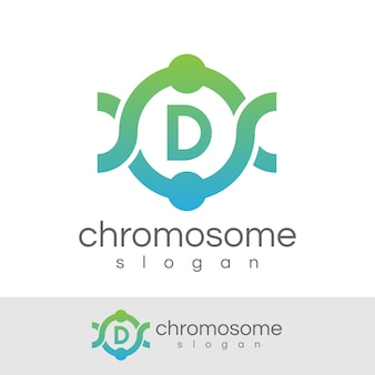 Początek chromosomu litera d projekt logo