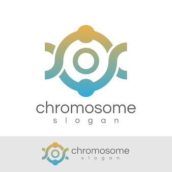 Początkowa chromosomowa litera o projekt logo