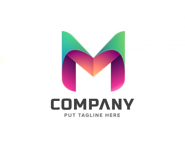 Początkowa kolekcja logo kreatywnej litery m.