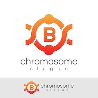 Początkowa konstrukcja chromosomu litera b logo