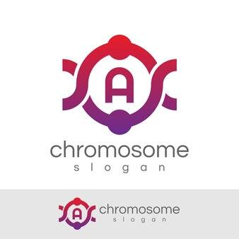 Początkowa litera chromosomu a projekt logo