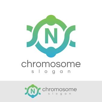 Początkowa litera chromosomu logo n.