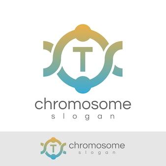 Początkowa litera chromosomu logo t