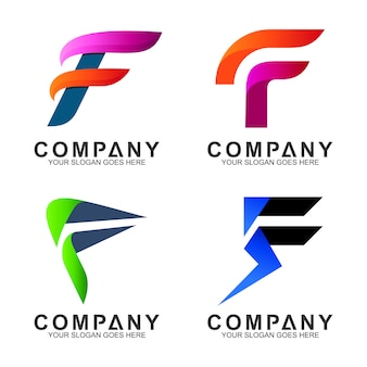 Początkowa litera f logo