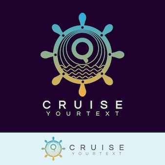 Początkowa litera q projekt logo