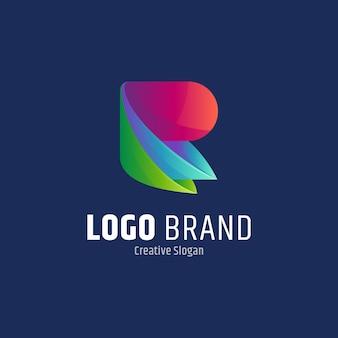 Początkowa litera r abstrakcyjny szablon projektu logo