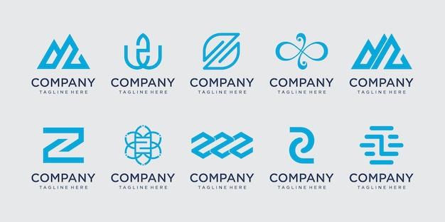 Początkowa litera z logo ikona scenografia dla biznesu mody sportowej luksusu