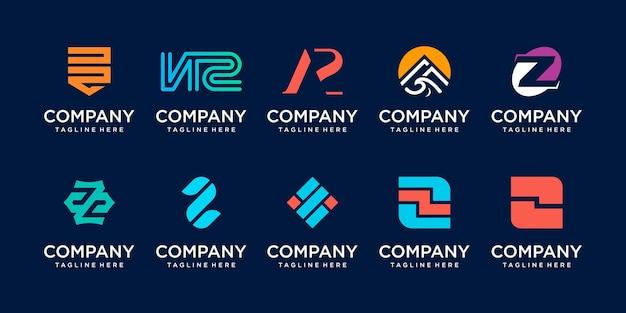 Początkowa litera z logo ikona scenografia dla biznesu sportowa technologia motoryzacyjna cyfrowa