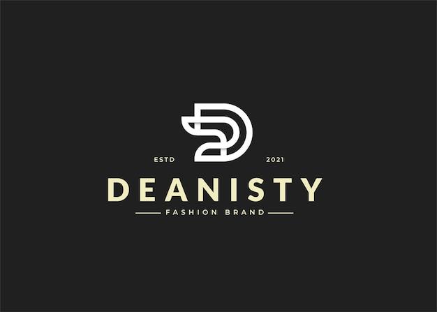 Początkowe ilustracje szablonu projektu logo litery d