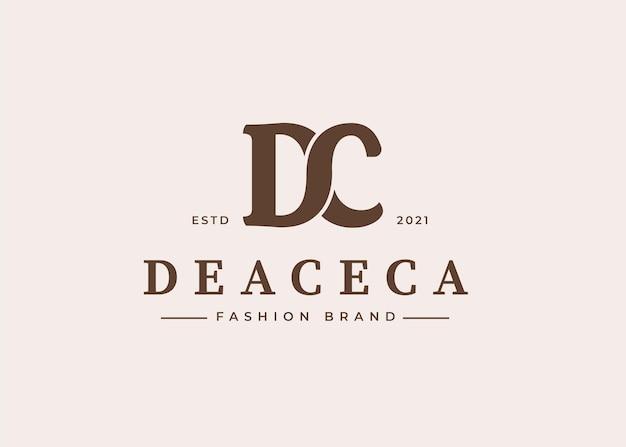 Początkowe ilustracje szablonu projektu logo litery dc