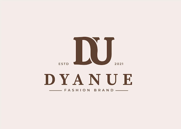Początkowe ilustracje szablonu projektu logo litery du