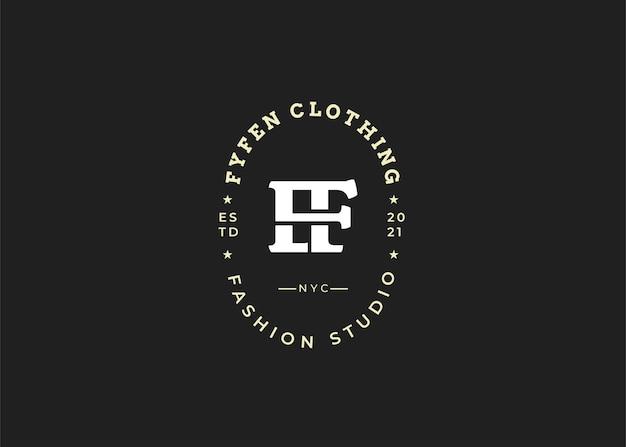Początkowe ilustracje szablonu projektu logo litery f