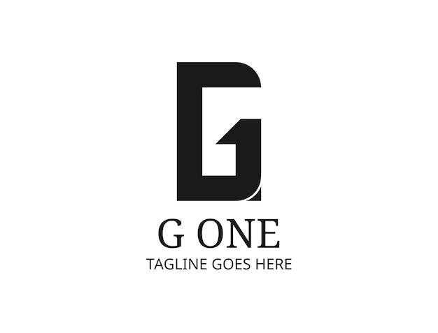 Początkowe logo g i numer 1