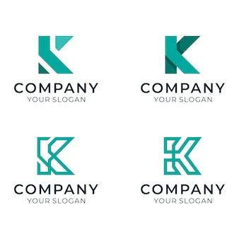Początkowe logo k ustawione dla firmy