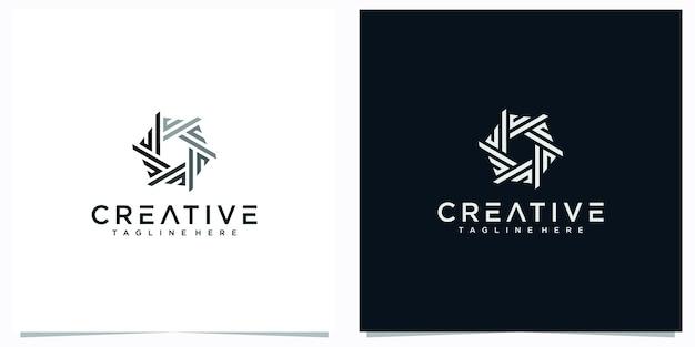 Początkowe logo litery abstrakcyjne. inspiracje kreatywnym logo litery e. streszczenie logo litery m