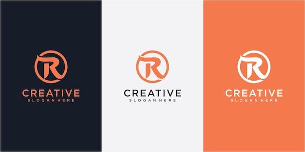 Początkowe logo litery rk z szablonem wektor kreatywnych nowoczesnych firm typografii. projektowanie logo kreatywnych listów rk.